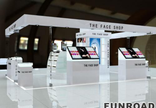 简约大气型化妆品展柜/柜台效果图