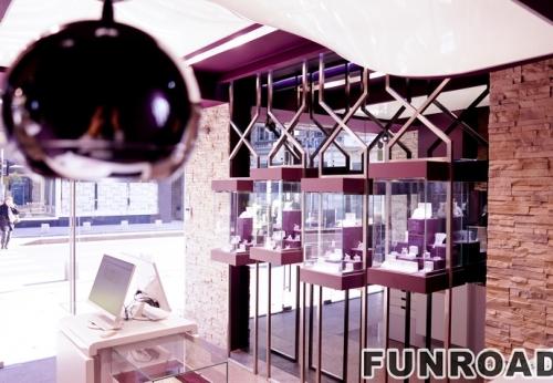 定制的木制珠宝首饰陈列展示柜台橱窗