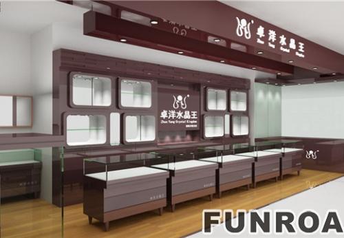 武汉水晶王珠宝水晶首饰展示柜台设计效果图