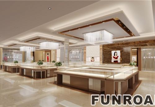 深圳水贝商场珠宝柜台欧美风格设计效果图