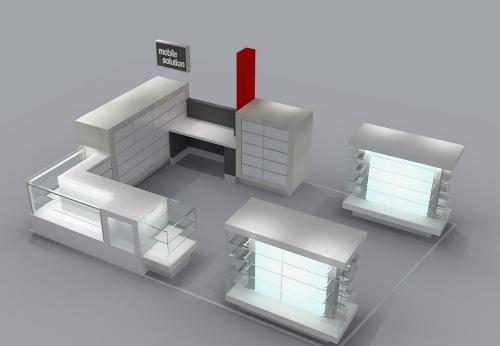 深圳工厂定制木制手机配件亭配眼镜展示架设计