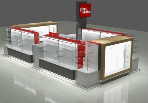 厂家直销手机亭配玻璃手机壳展示柜台