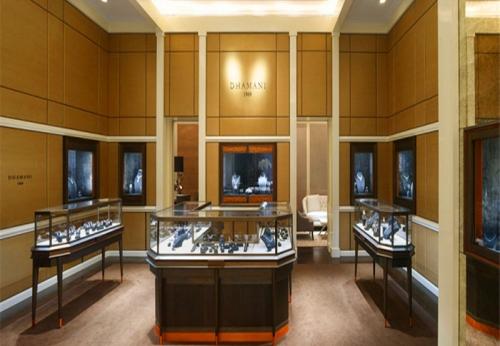 云南品牌珠宝连锁店珠宝展示柜台设计效果图