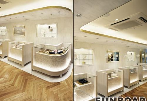 法式太空舱珠宝展示柜台设计风格效果图