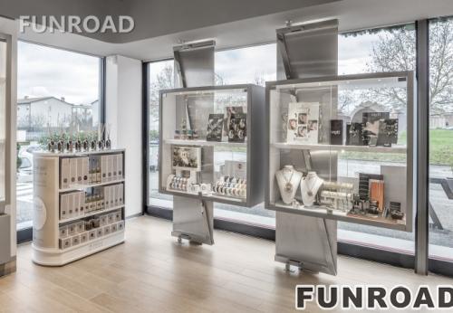 卡地亚带led灯的创意珠宝展示柜台家具设计风格