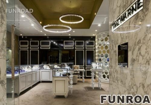 高端豪华的珠宝店展示柜台橱窗设计效果图