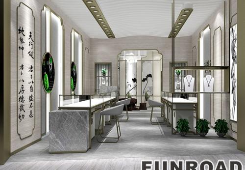新款卡地亚珠宝展柜,店内陈列设计效果图