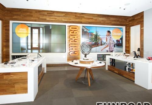 手机零售商店展示柜台电话显示家具设计效果图