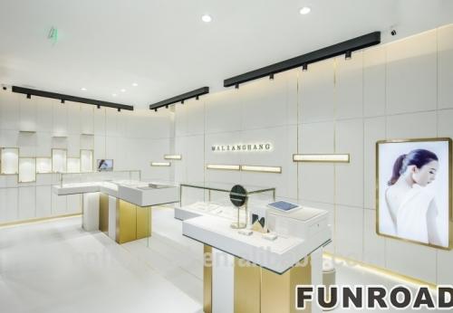 金属照明首饰柜台/珠宝展示柜设计效果图