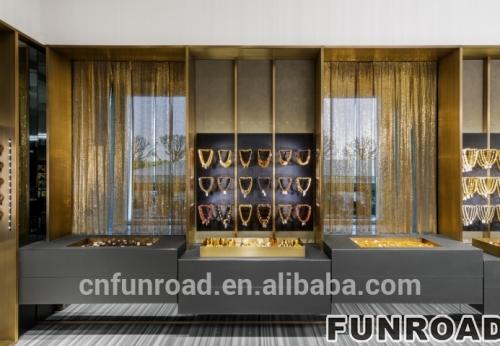 金属珠宝陈列展示珠宝展示厅家具设计效果图