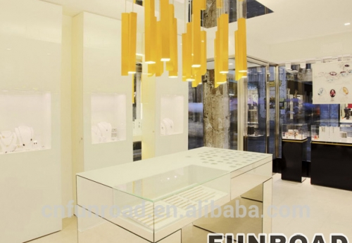 珠宝零售商店展示家具陈列柜/商店展示柜台设计效果图