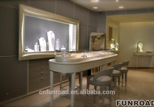 珠宝零售商店展示家具设计和珠宝展示陈列柜设计效果图