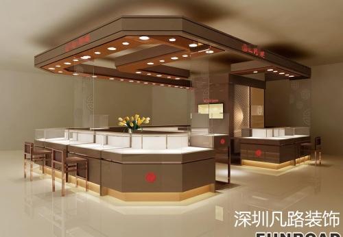 2017流行复古中高端珠宝展柜设计展示效果图