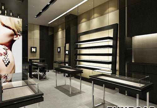 中国时尚珠宝饰品展柜订制设计效果图