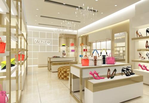 精品包包鞋子店展示家具设计