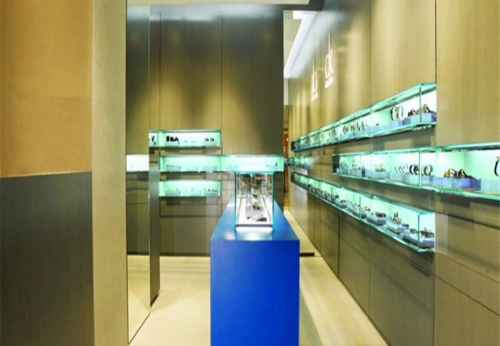 顶级CK国际风格设计手表展柜陈列设计效果图