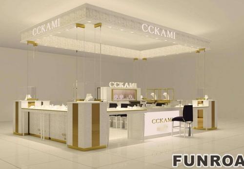 欧美国际商业空间珠宝展柜设计陈列效果图