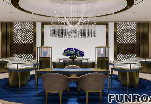 欧式商业黄金珠宝商业空间展示柜设计效果图-2017年