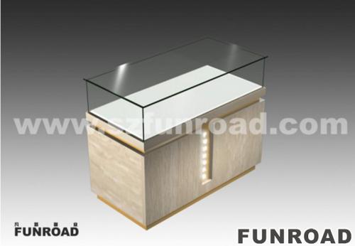 木制和玻璃手表商店家具手表展柜陈列效果图