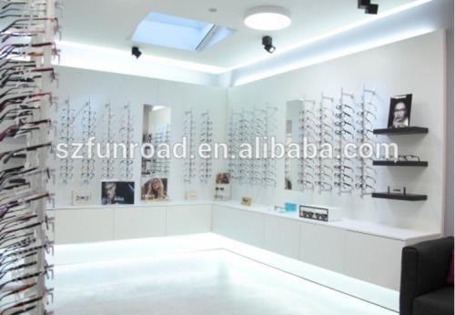 光学展厅设计的眼镜展柜陈列设计效果图