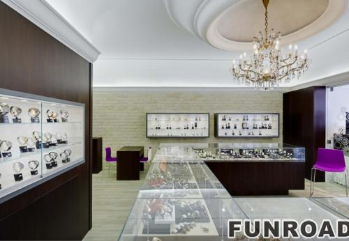 手表商店柜台设计展示柜橱窗设计效果图