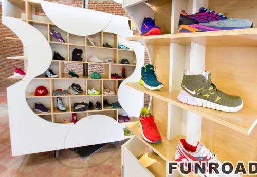 现代女性鞋店装饰与阿里巴巴专卖店展柜陈列效果图