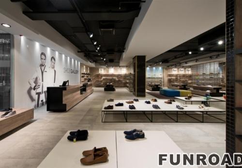 现代女性鞋履和手袋店装饰与阿里巴巴专卖店展柜设计效果图