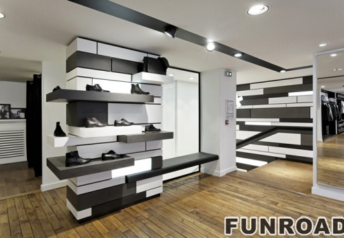 Funroad Shoes Store Interior Design And Shoes Display Cabient