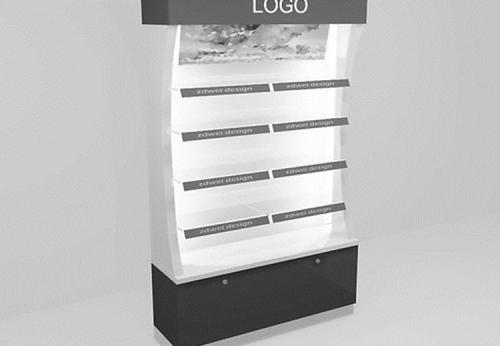 新流行的灯光精致的木制商店化妆品陈列展柜设计效果图-可来图订制