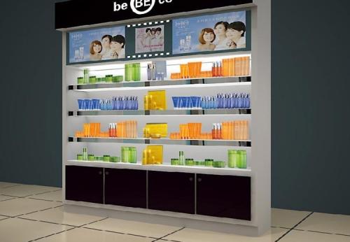 定制的柜台照明家具化妆品展柜设计效果图-可来图订制