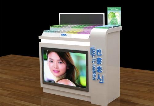 零售商店精致木质陈列时尚展柜设计效果图-可来图订制