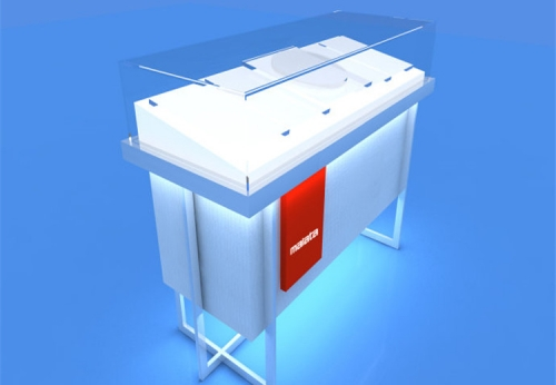 现代手机好看的配件陈列展柜效果图-可来图订制