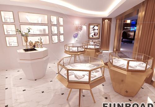 欧式商业黄金珠宝商业空间展示柜设计效果图-2017年凡路设计新款