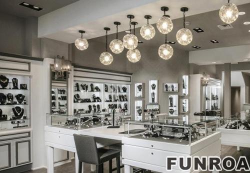 国际欧式现代流行珠宝展示柜台设计效果图-可订制