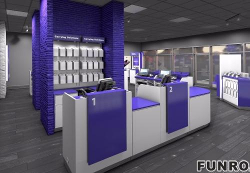 手机配件店展示柜设计