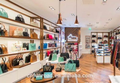 Handbag Shop Furniture With Bag Display Counter And Shelf