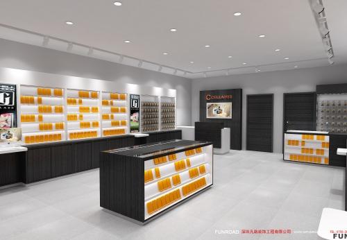 手机配件零售店室内设计与木制展示柜