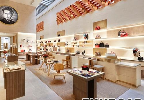 高端百货商店室内设计包包、化妆品、服装展示柜设计