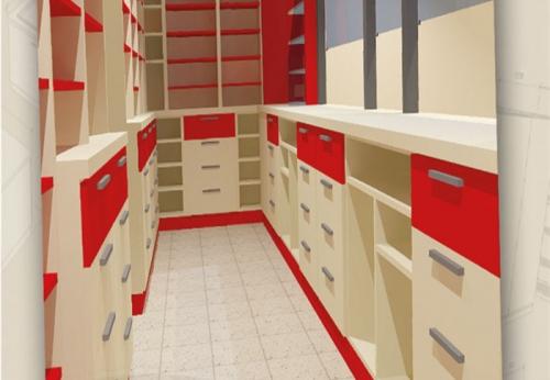 药房木质烤漆展示柜窗台定制整体设计图