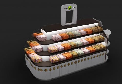 品牌工厂直销制造金属手机亭,展示柜效果图