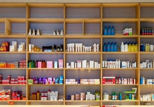 化妆品陈列展示柜台定制设计效果图