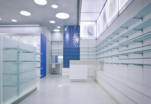 玻璃展柜/药房陈列展示柜/零售商店货架