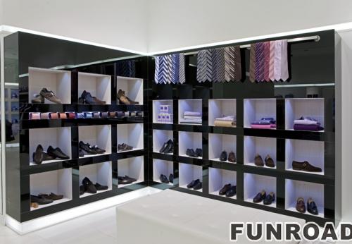 女性现代鞋零售商店展示柜台设计