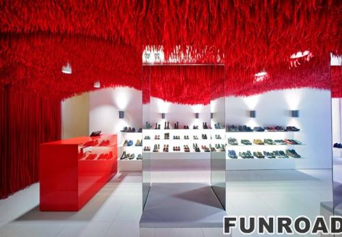 女性时尚高跟鞋鞋店柜台设计制作
