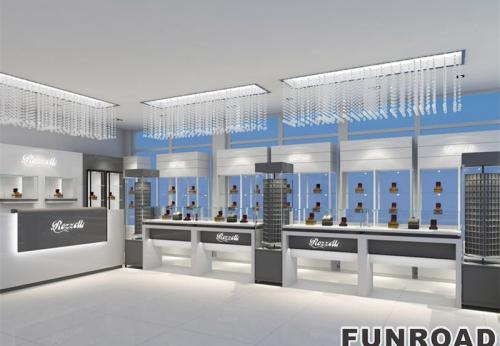 广州琶洲客户订制设计珠宝展示柜新款展示效果图