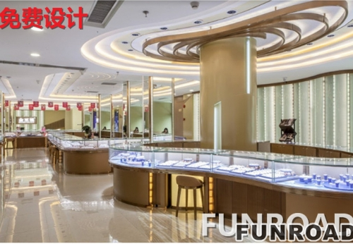 2017新款卡地亚高端珠宝展示柜设计展示效果图