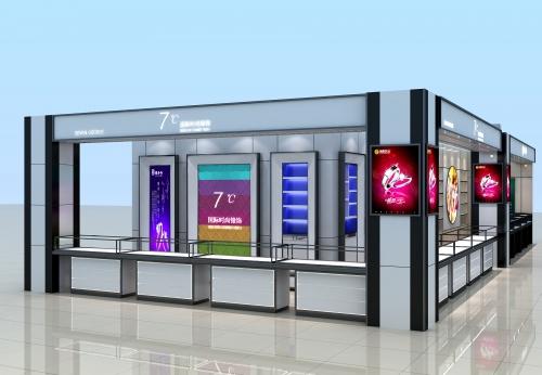 商业品牌珠宝店高端珠宝展示柜台设计效果图