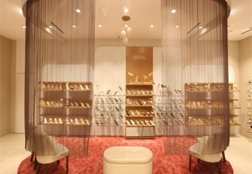 定制鞋店鞋子展示柜装饰墙鞋架设计