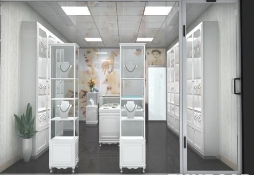luxury display design store furniture jewelry cabinet
