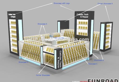 工厂价手机维修亭设计手机配件商城销售亭